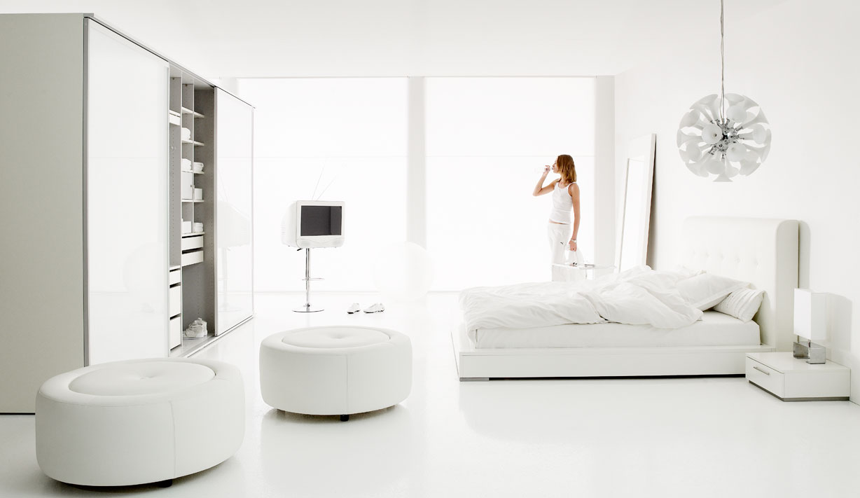 White Bedroom Interior Design | Viahouse.Com
