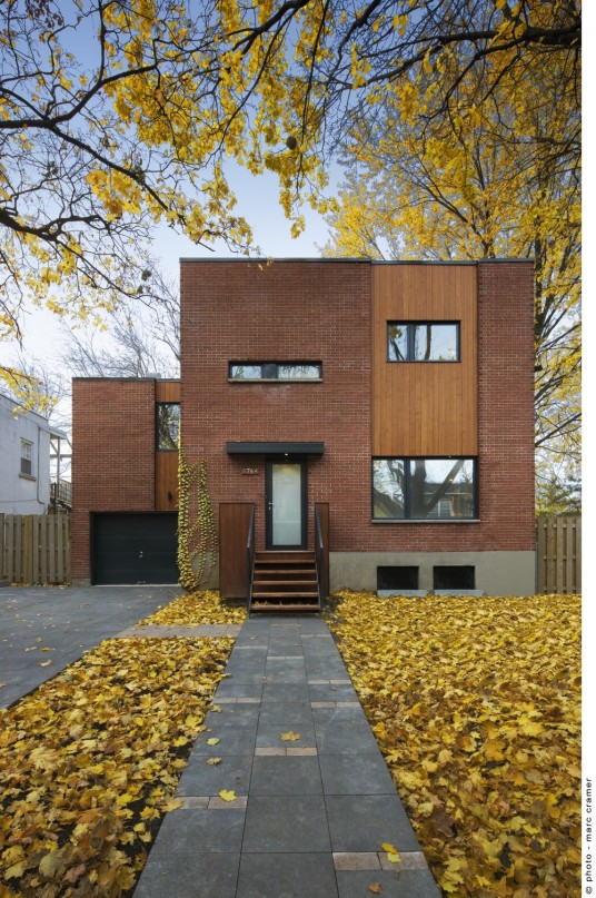 Modern Home Design in Montreal By  Anik Péloquin Architects