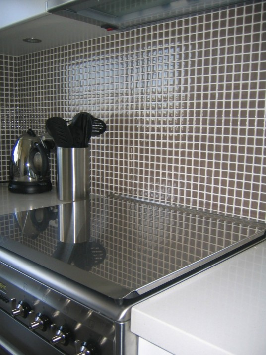 Vogue Bay Clear & Frosted Mosaic Walls of Glass