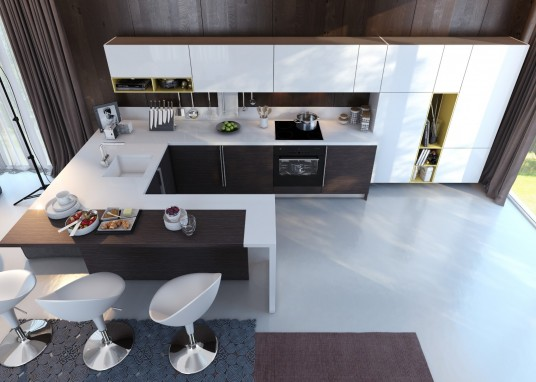 Contemporary kitchen interior with a relaxed atmosphere
