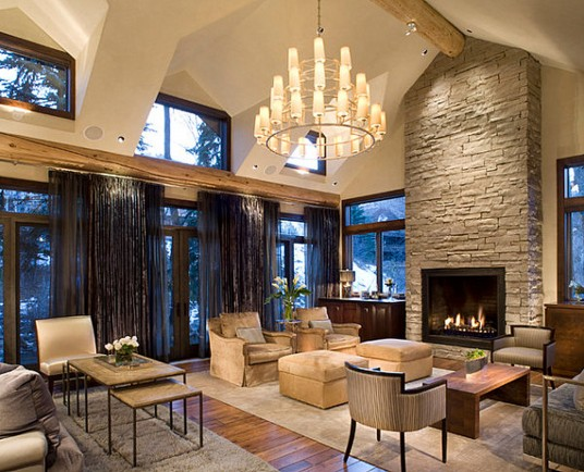 Astonishing Rustic Meets Modern Living Room Interior Decoration Ideas