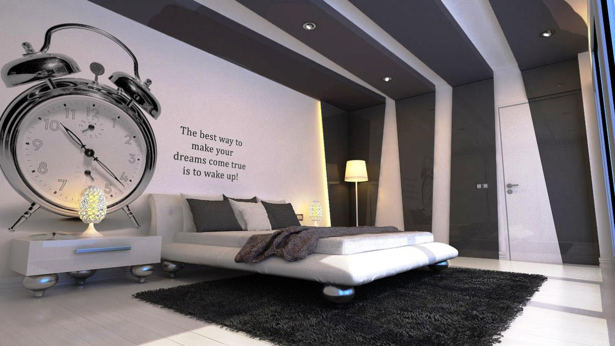Black and white men bedroom color decorating ideas for Black and white bedroom ideas for men