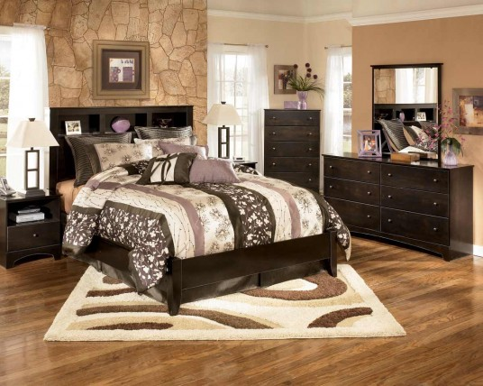 Modern Bedroom Design with Brown Concept Decoration Idea