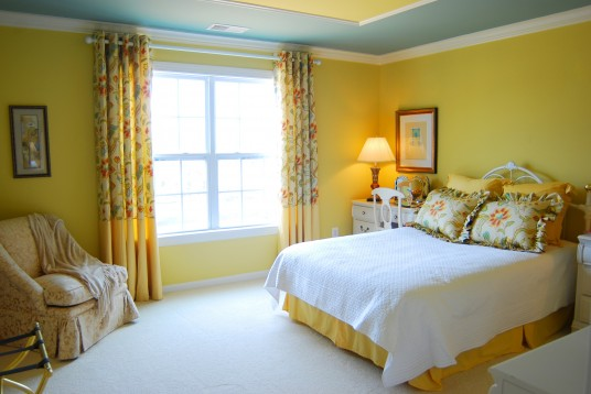 Olive Yellow Bedroom Decorating Ideas