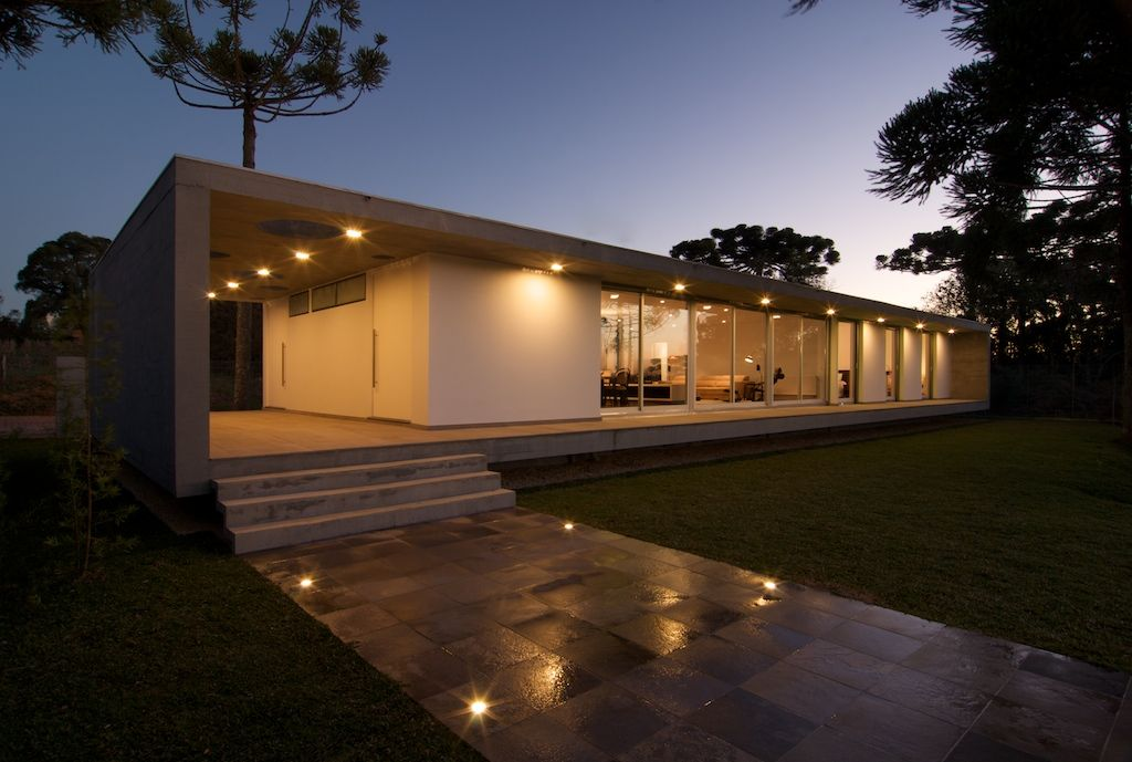 Cube house architectural lighting design