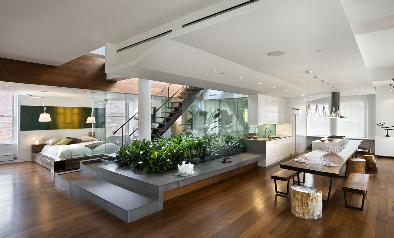modern interior architecture open floor plan | Viahouse.Com
