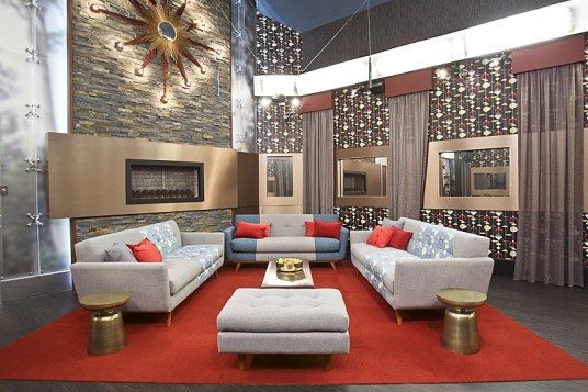 striking big house living room design