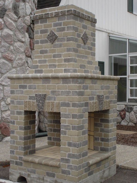Awesome Creative Outdoor Brick Fireplace Design
