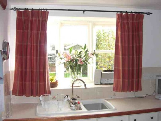 Kitchen Windows Curtain Over Sink