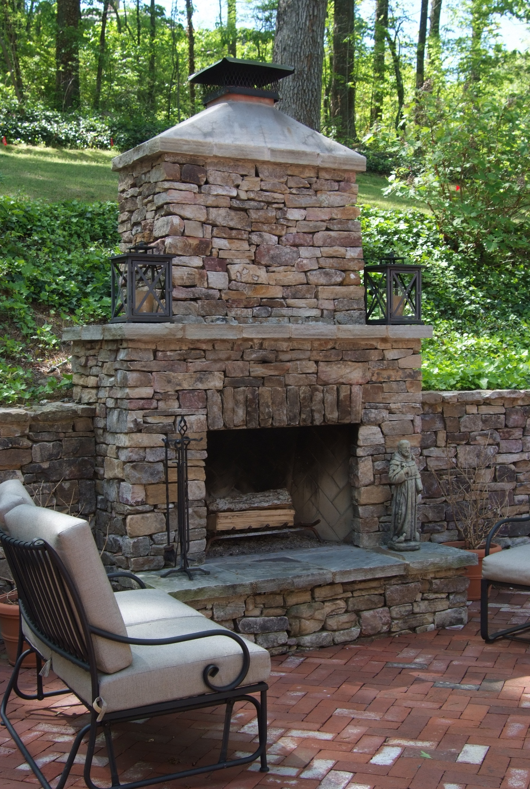 Outdoor Brick Fireplace Design Ideas