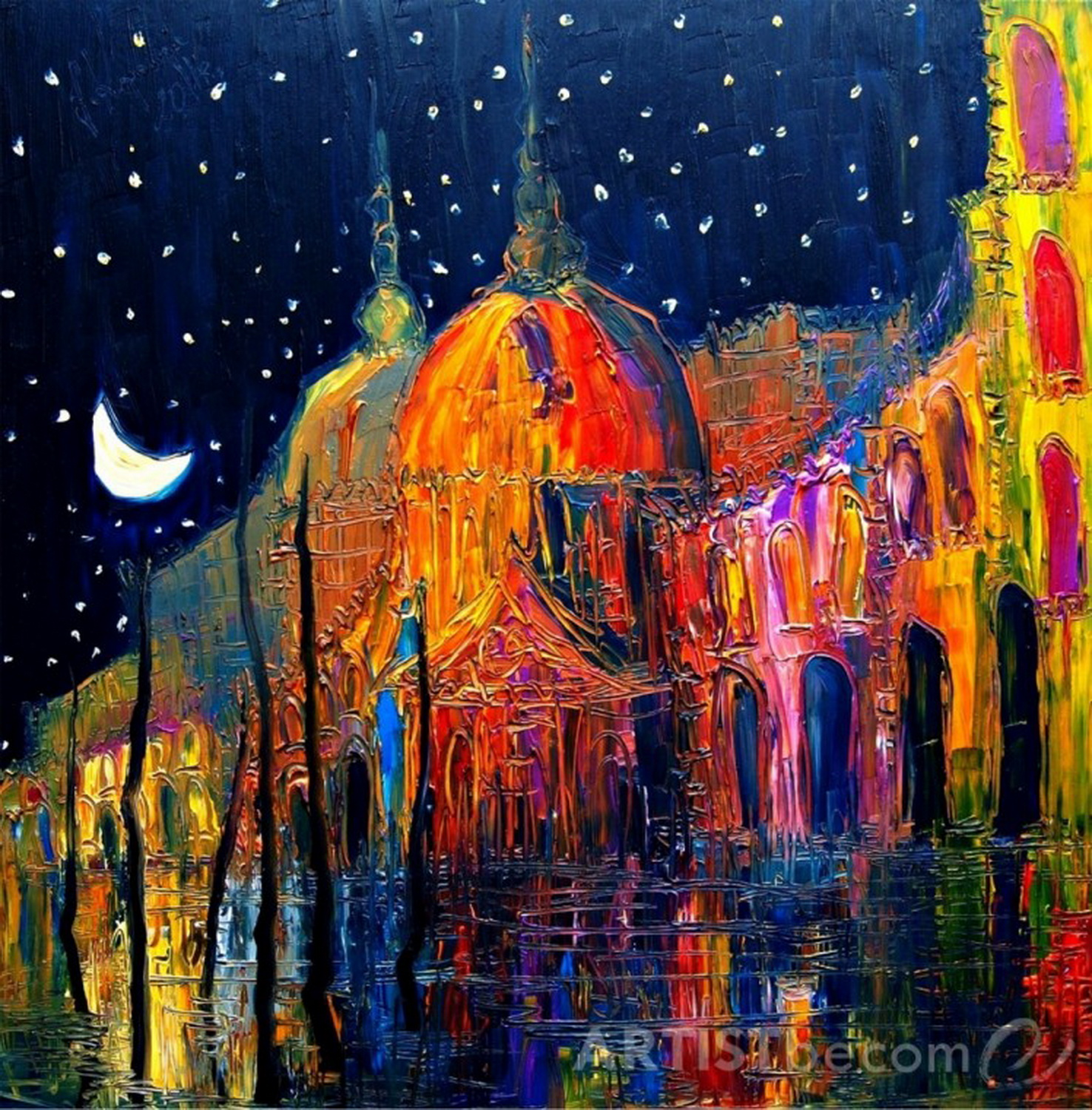 Night City Contemporary Art By Justyna Kopania