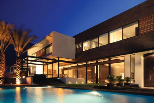 Luxury Home Outdoor Lighting With Swimming Pool Terrace Cg