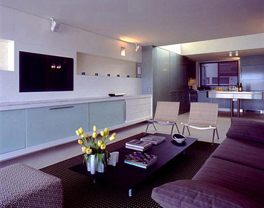 Modern beach apartment interior decor