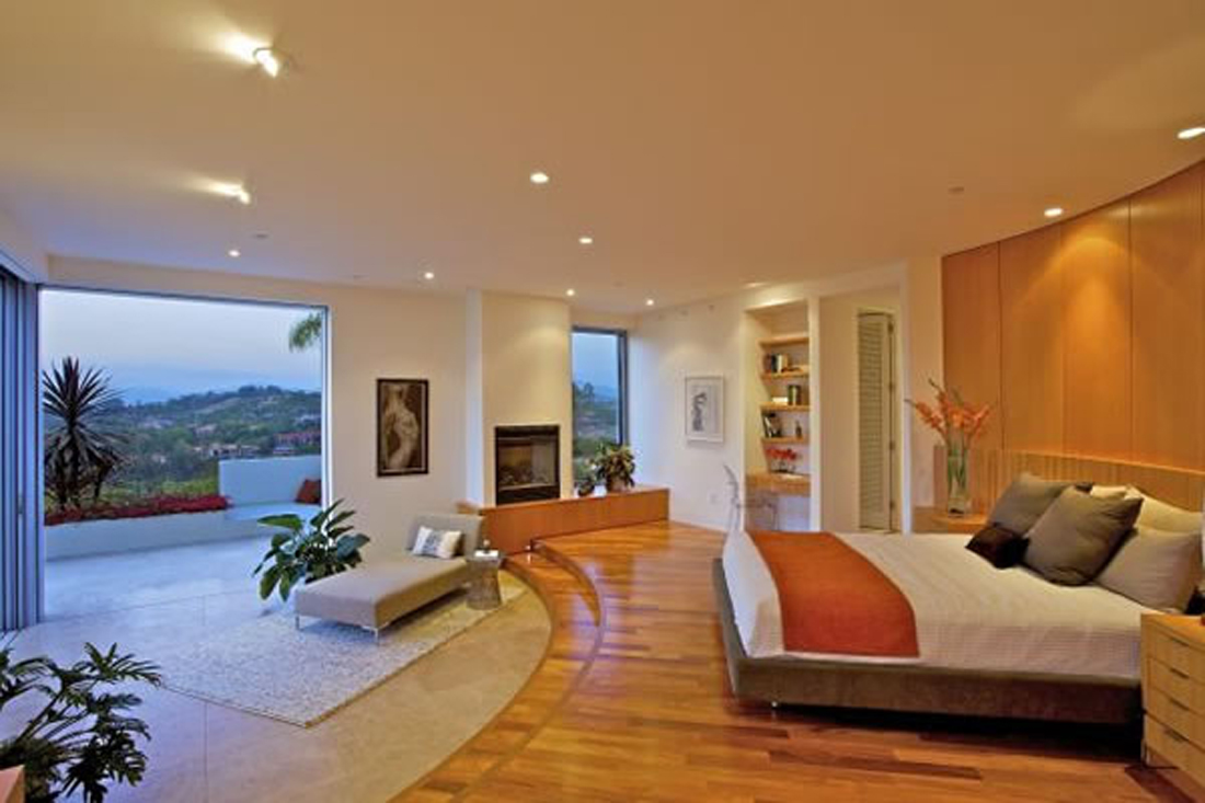 Open Plan Bedroom Hill House Ideas