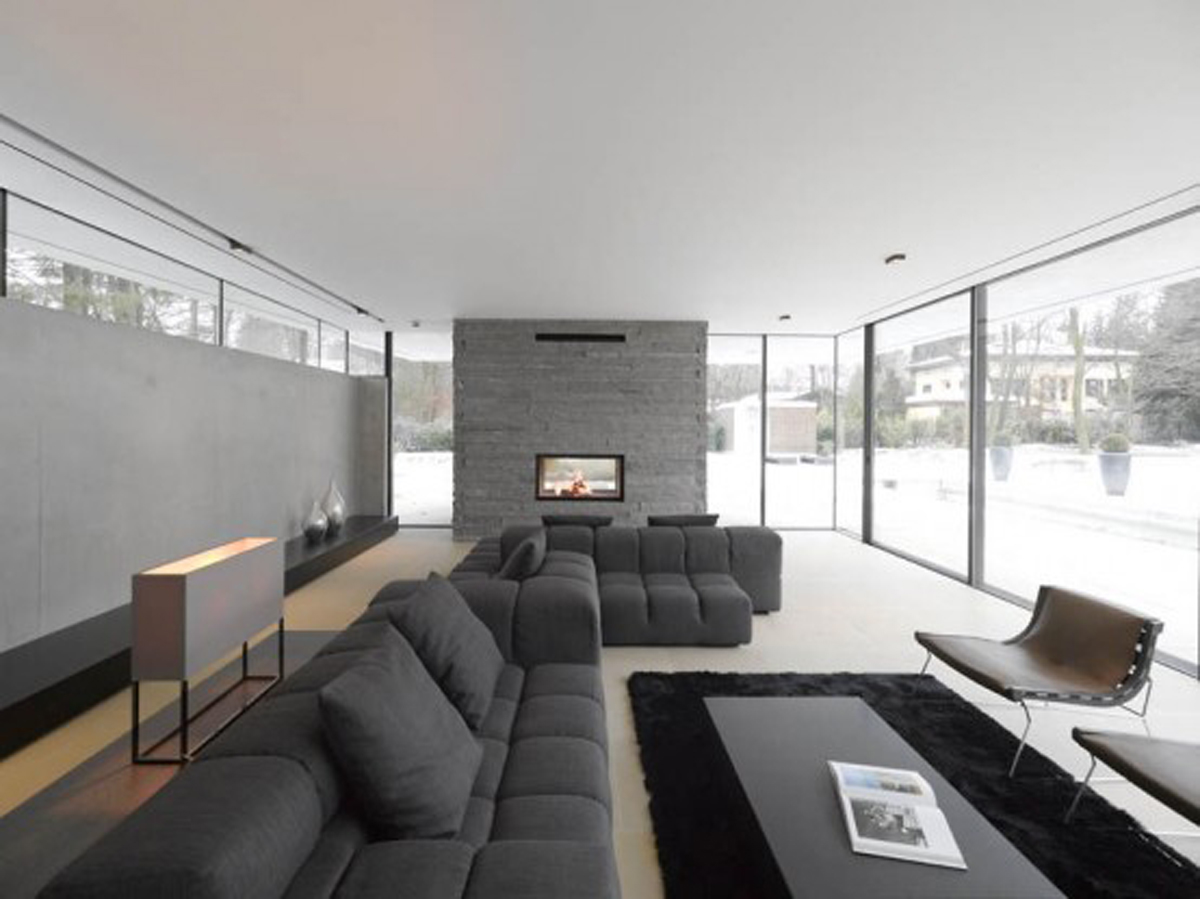 Minimalist Contemporary Style House Plans By Titus Bernhard Livingroom