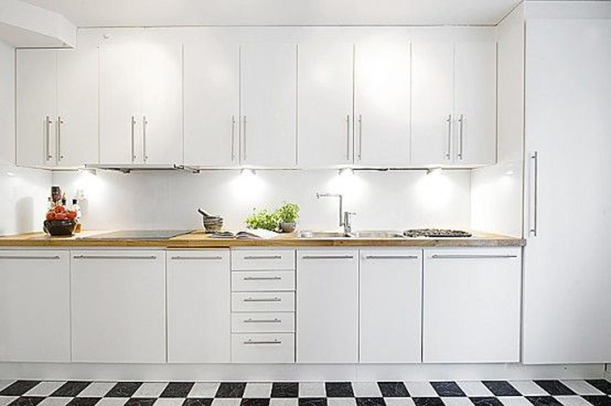 Modern White Interiors Design Apartment Kitchen