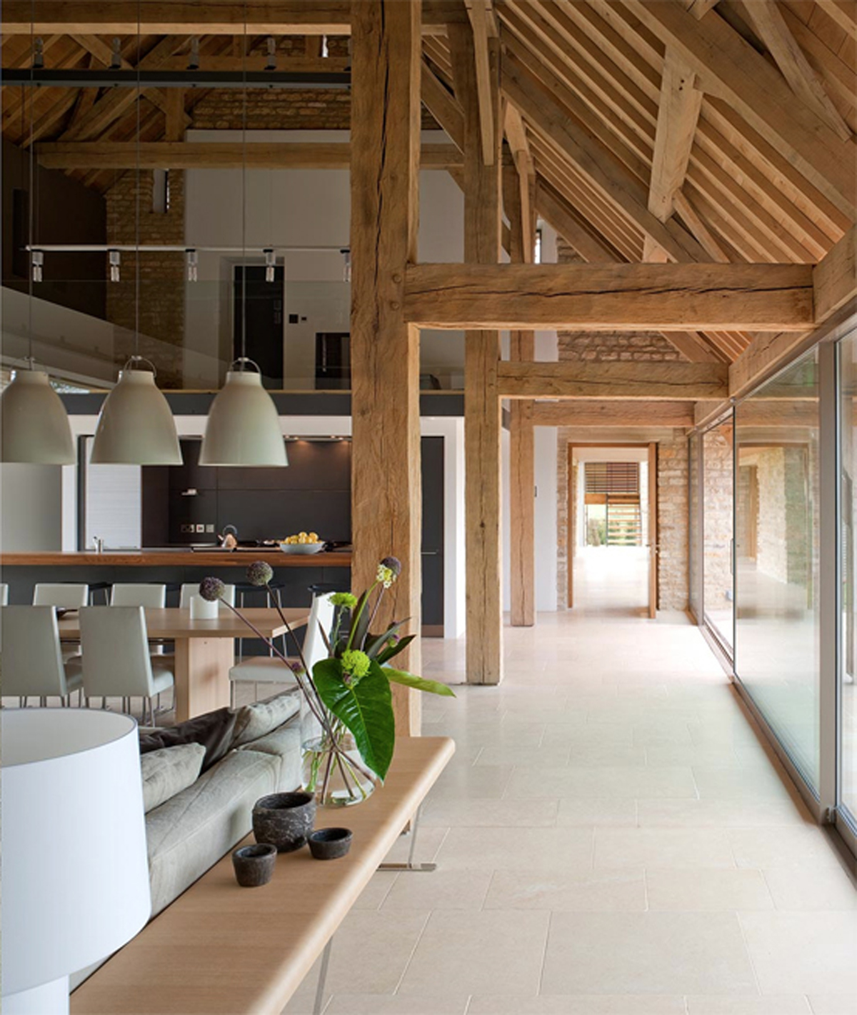 Contemporary House Design Renovated From Barn House