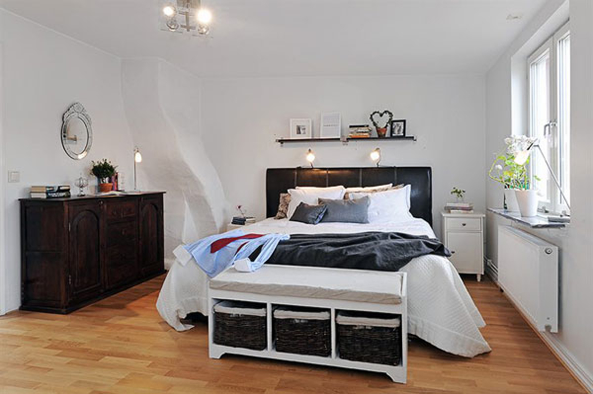 cozy apartment ideas with bright themes bedroom