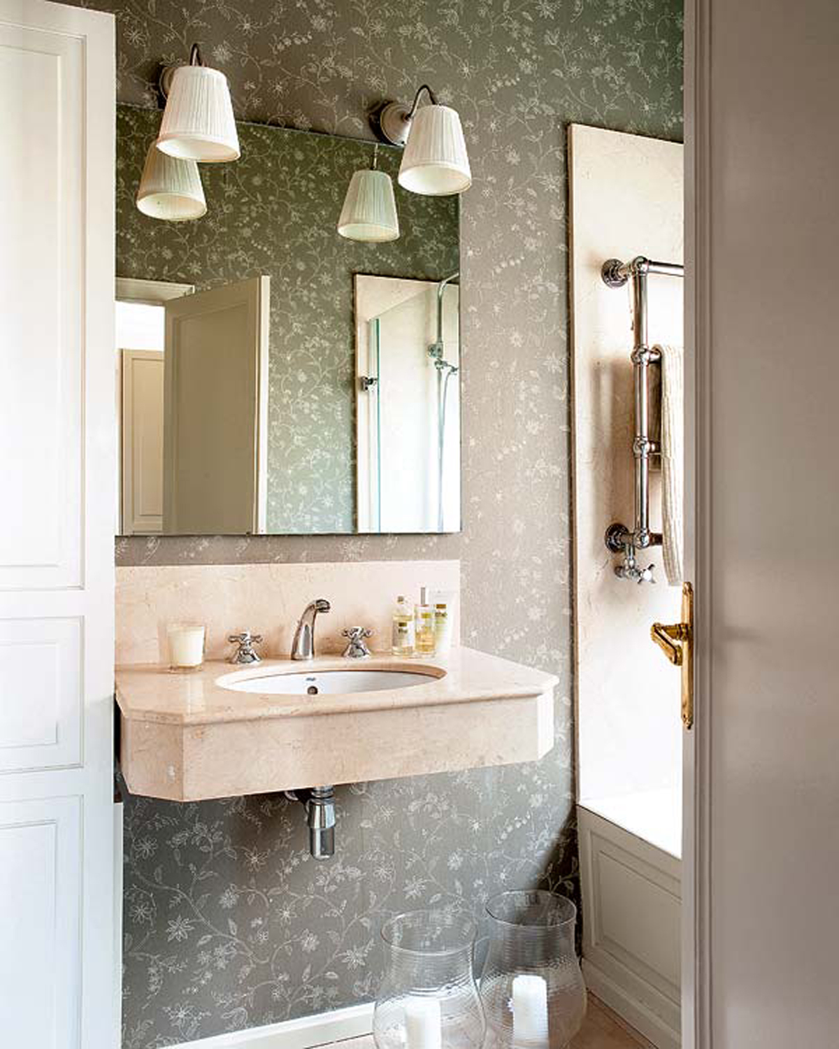 French ethnic style apartment ideas charming design in barcelona bathroom