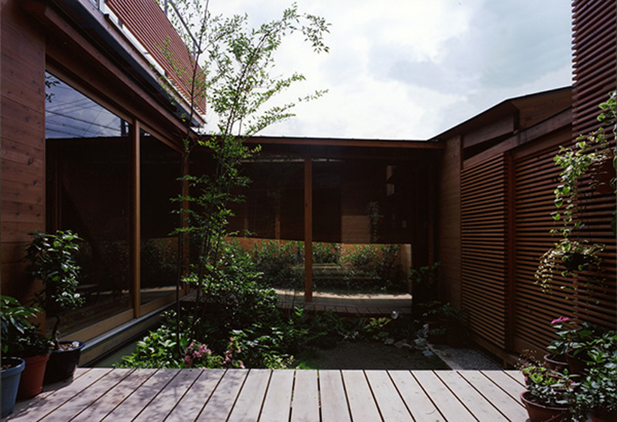 Modern wooden house from japanese architect garden