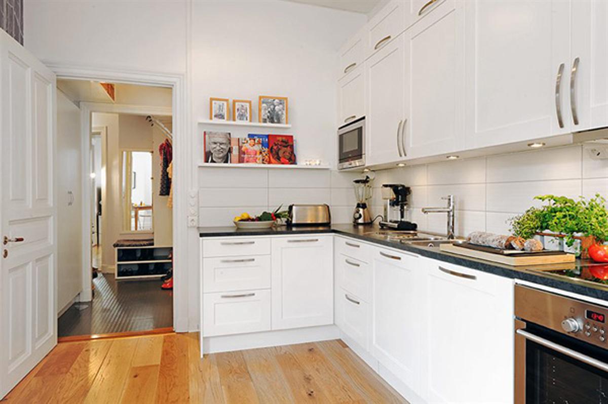 Kitchen Ideas Apartment.Two Rooms Apartment Ideas A Comfortable Design Flat Kitchen