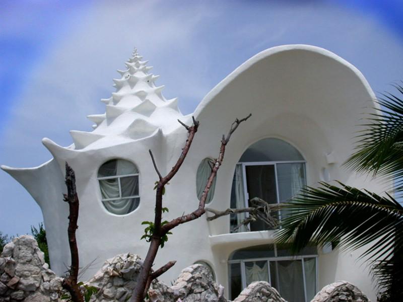 Unique House Design, The Conch-Shell House - Viahouse.Com