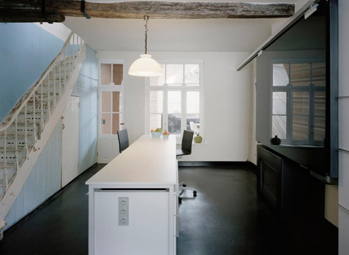 Half Parts Of Old House Renovated Into Modern Style Architecture Kitchen Viahouse Com