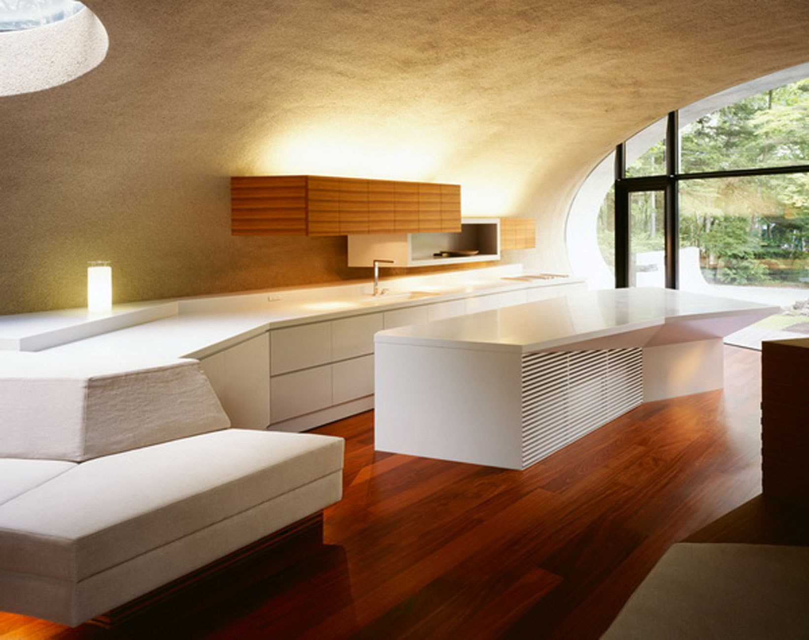 Futuristic Home Design With Natural Environment In Japan