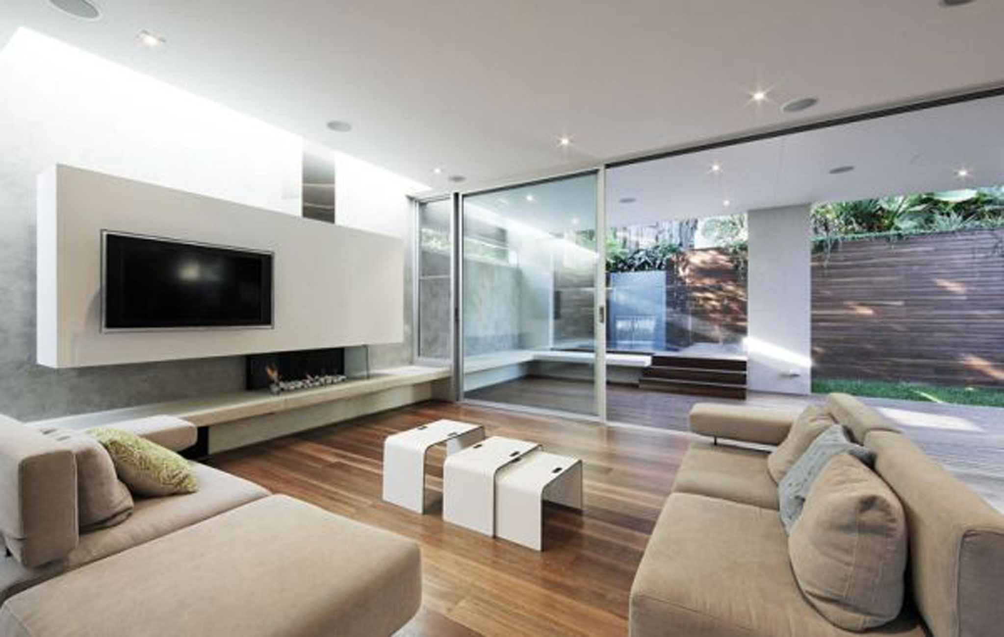 Modern homey house architecture for comfortable family living place livingroom