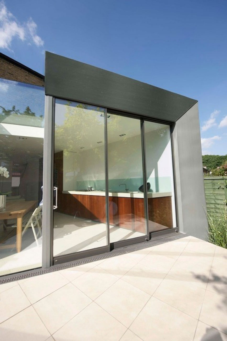 Simple Modern Terrace House Design in LondonHouse Kitchen - Get Simple Terrace Design For Small House PNG