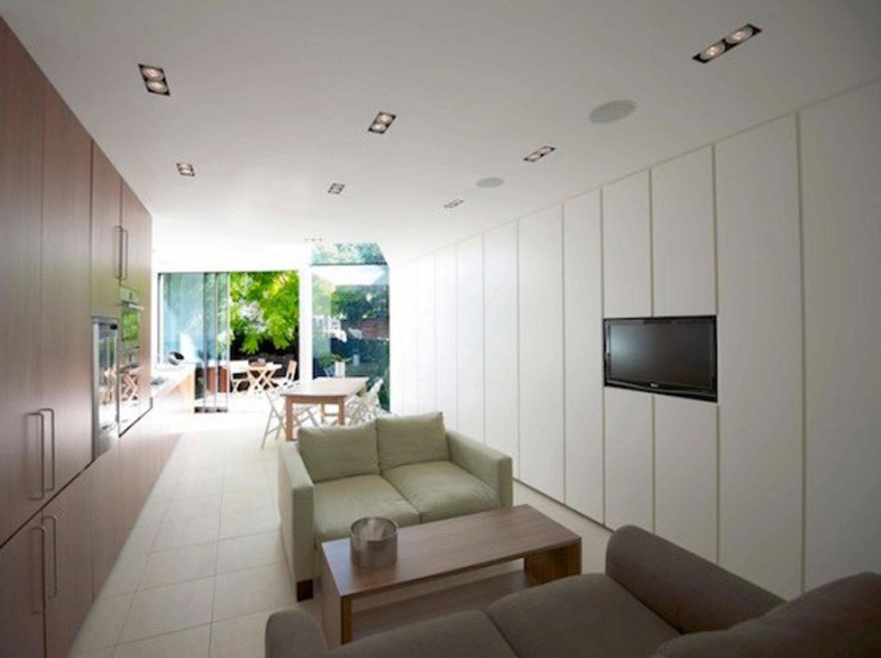 Simple Modern Terrace House Design In Londonhouse Livingroom