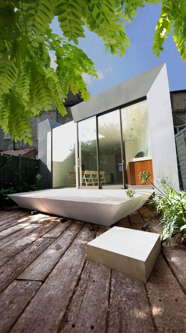Simple Modern Terrace House Design in LondonHouse - Yard ... on Small Terraced House Backyard Ideas id=81908