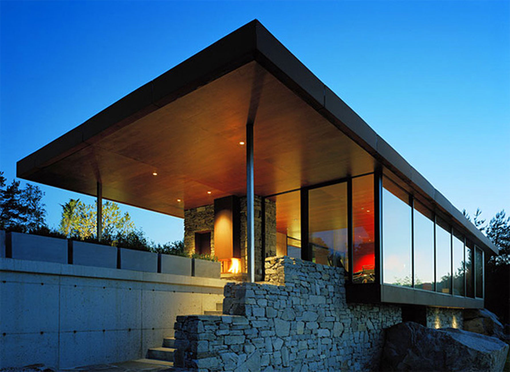 The Gunderson House Mountain Residence From Wrb