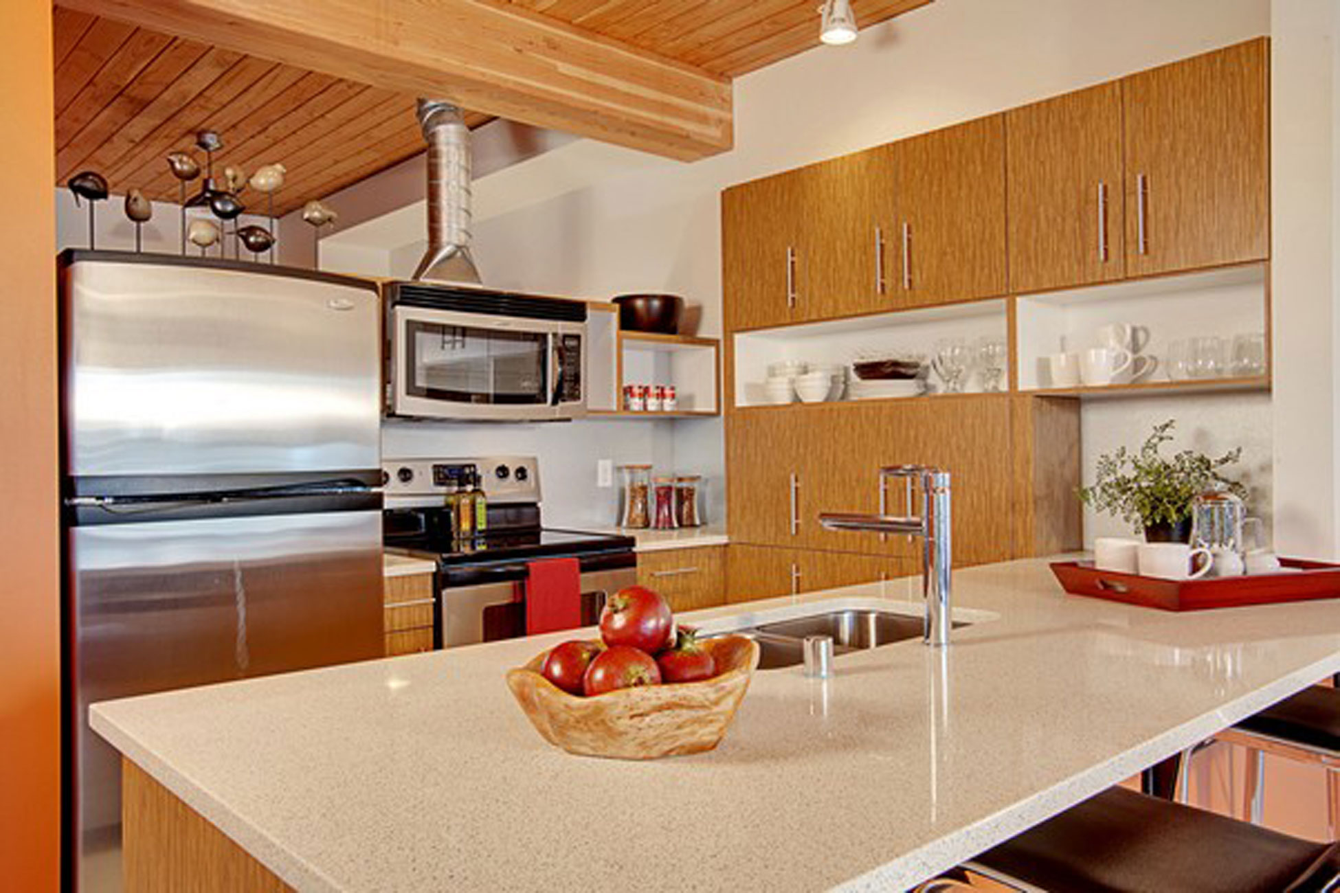 Twins Apartment Ideas In Seattle U2013 Red Kitchen