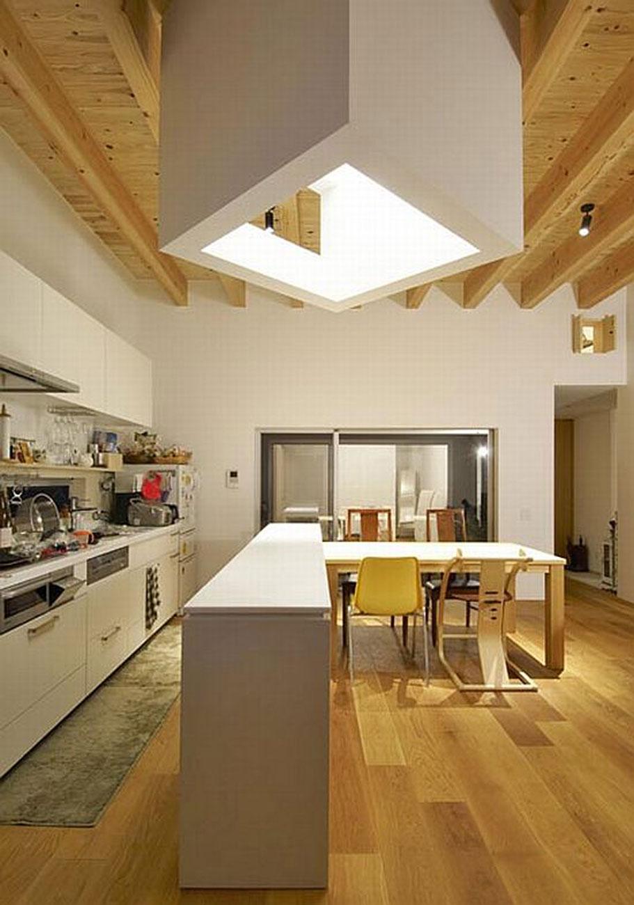 Black Modern House Design From Japanese Architect Kitchen