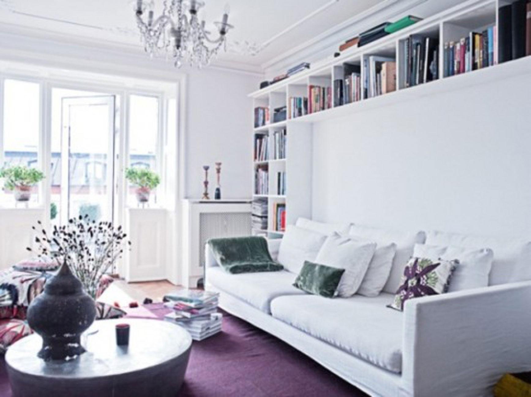 Bright Apartment Interior Design By Nina Nyborg White Livingroom