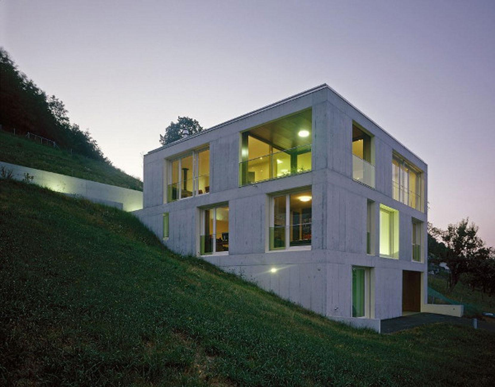 » Contemporary Concrete House Design in Rural Landscape of ...