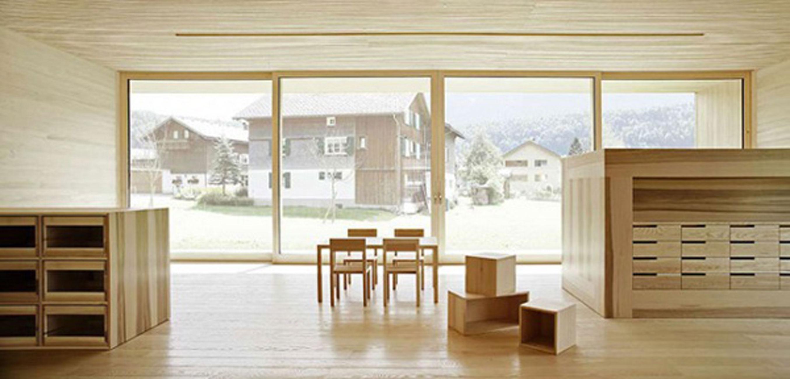 Minimalist Wooden House Ideas By Bernardo Bader Interior