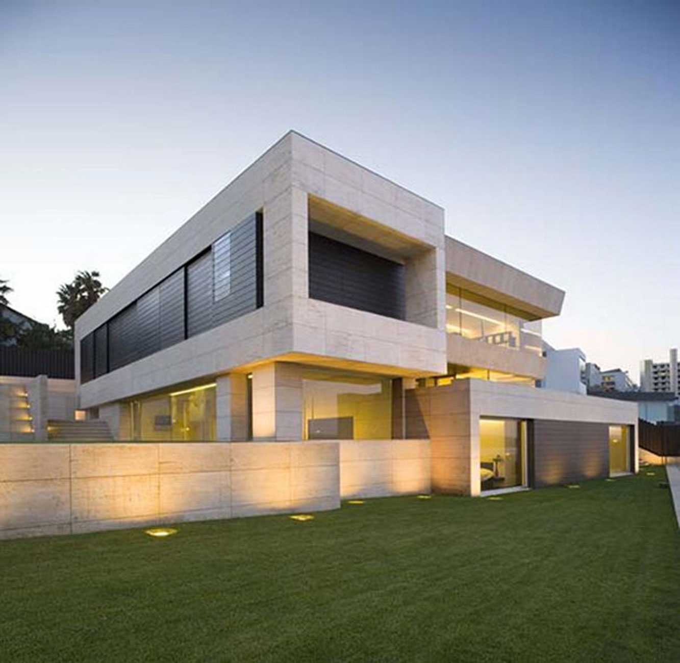 Modern glass house design in cliff side of galicia spain architecture