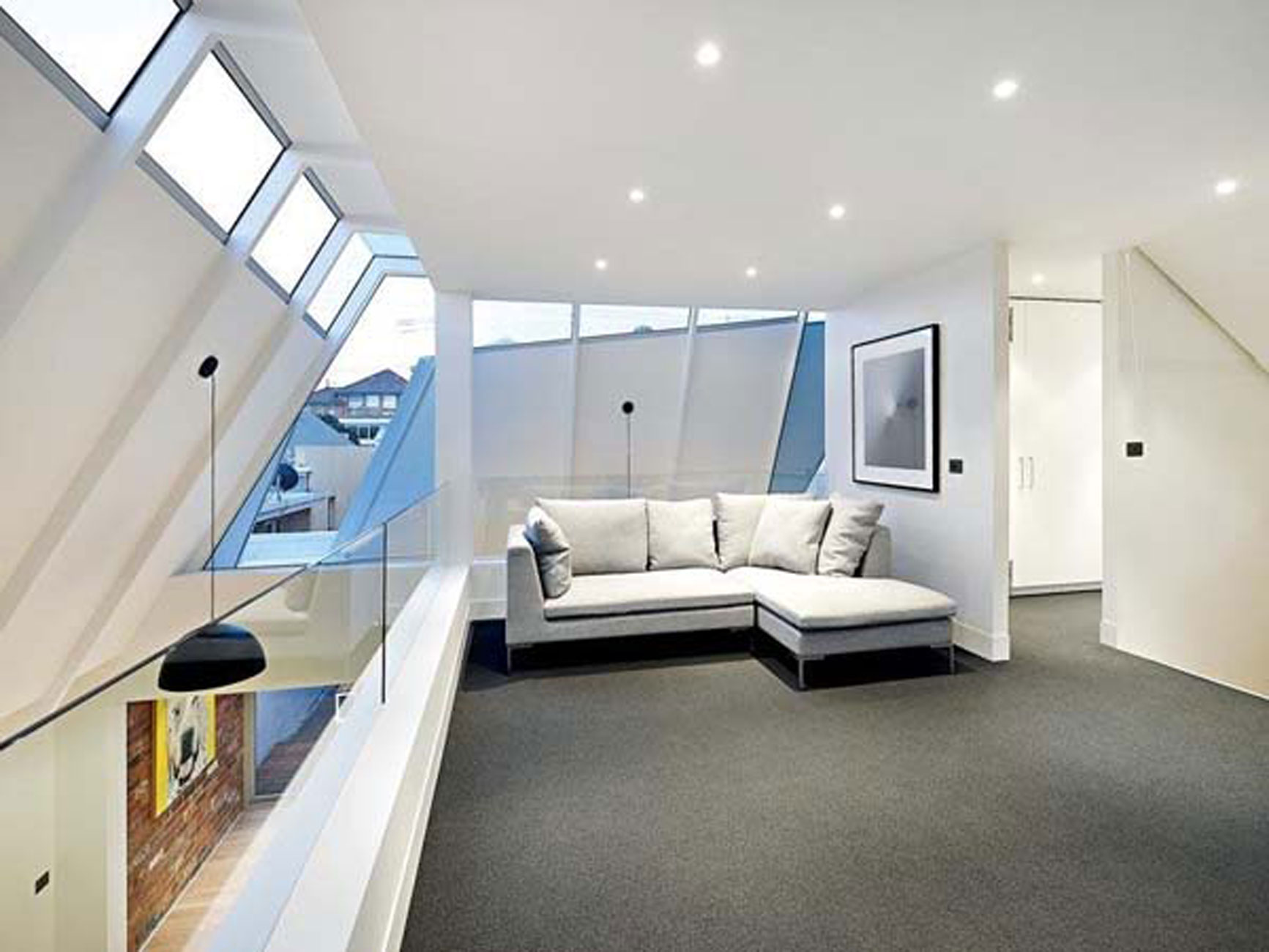 Modern Interior Design Of An Industrial Style Home In Melbourne Balcony