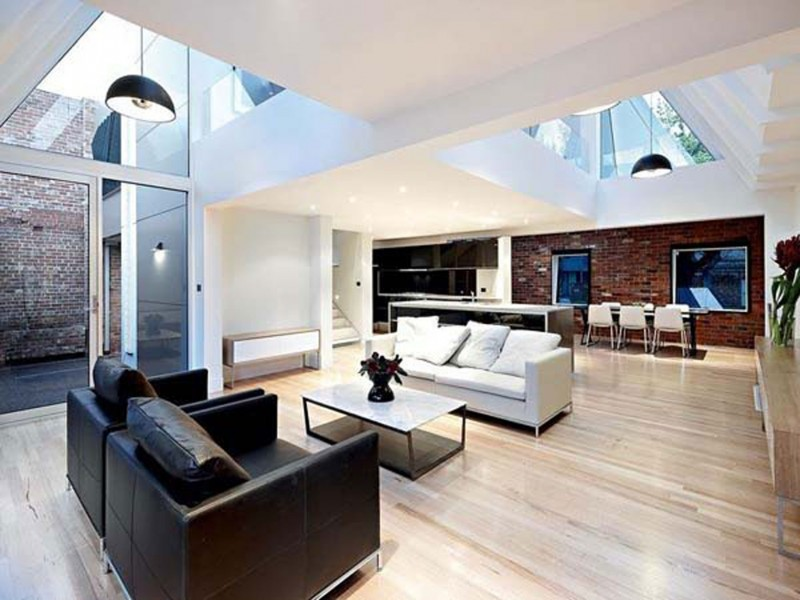 Nice Modern Interior Design Of An Industrial Style Home In Melbourne Living Room