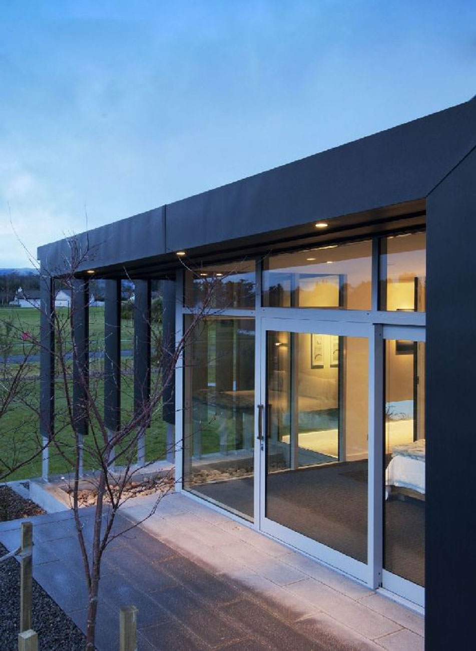 New Zealand Retreat Modern Style In Solid Boxes Architecture Entrance
