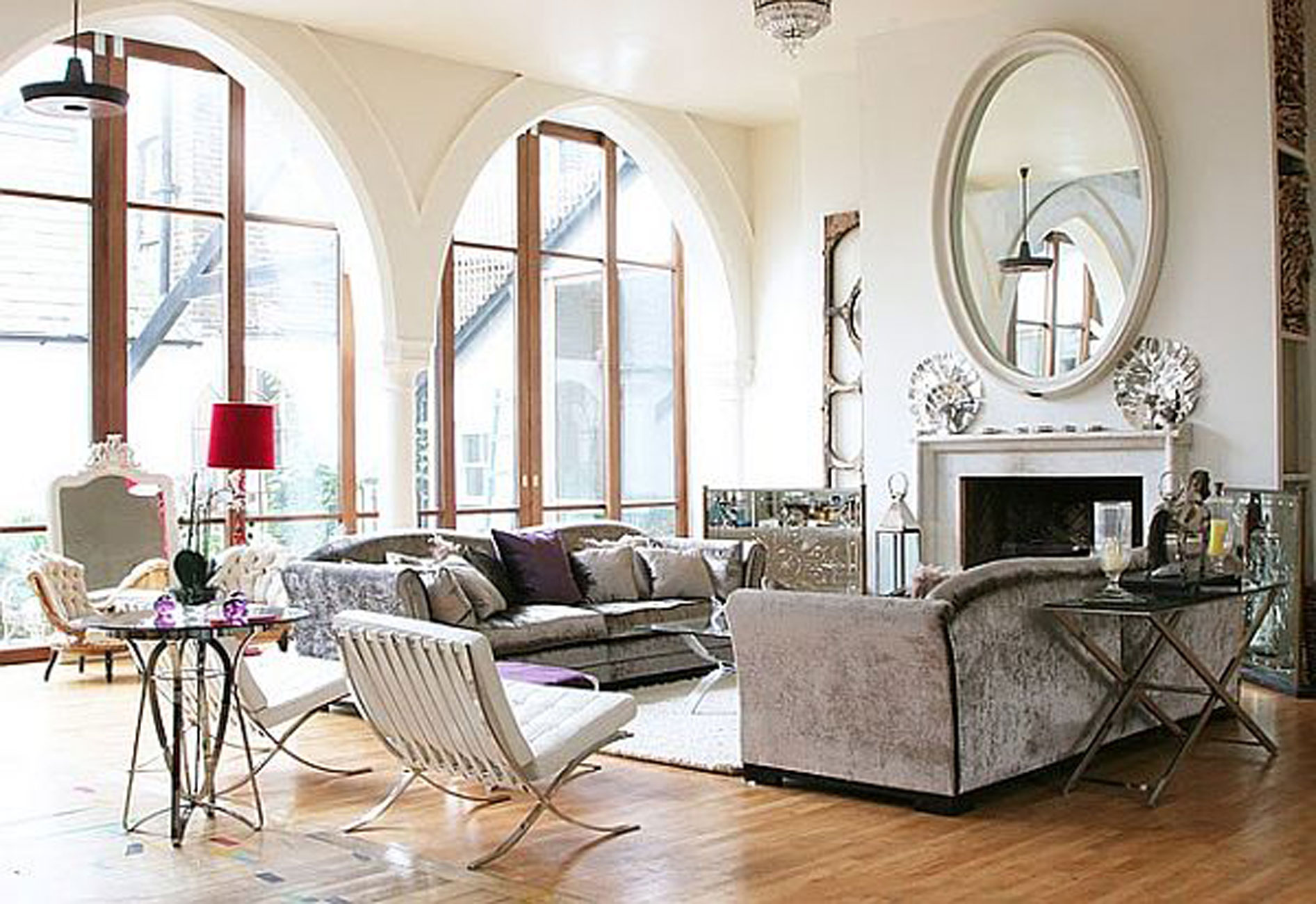 187 Old Church Turn Into Contemporary House Livingroom