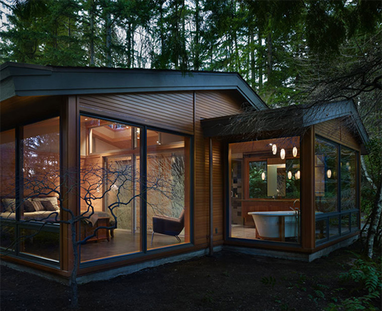 Modern Contemporary Home Decor Real Wood House With Forest Environment Viahouse Com