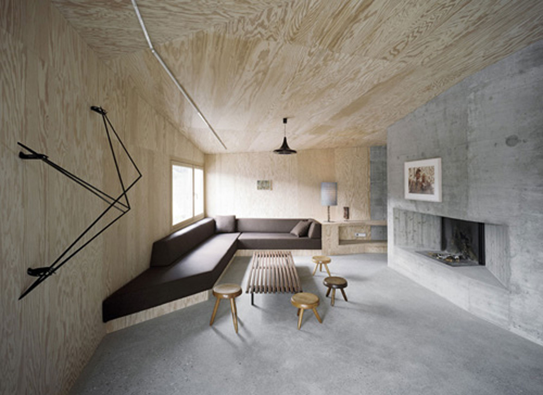 Solid Concrete House Architecture and Minimalist Interior ...