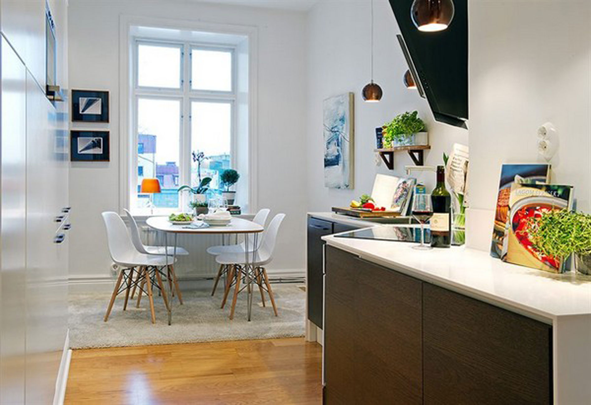 White Apartment Interior Ideas in Sweden – Kitchen and ...