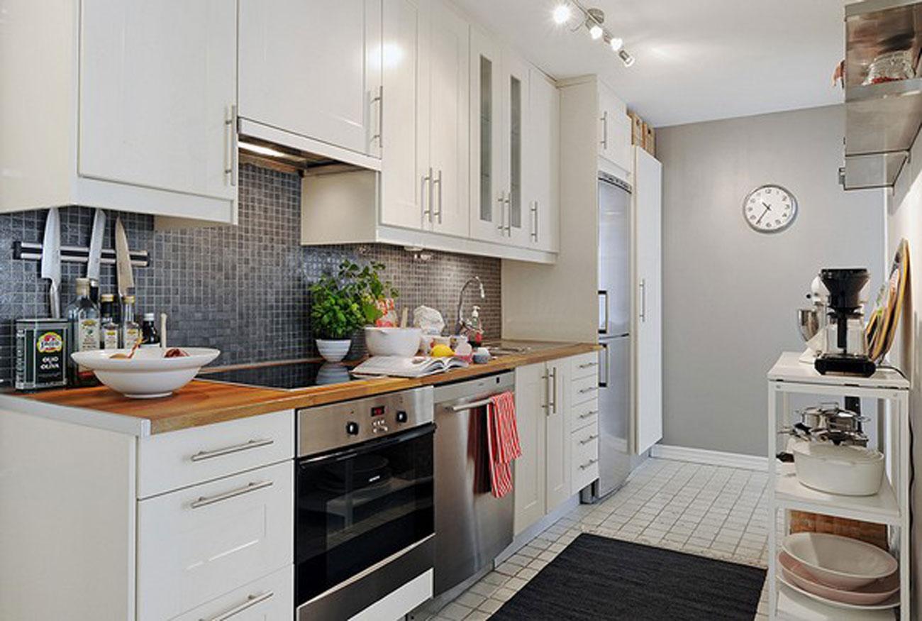 Elegant White Interior Design Of A Minimalist Duplex Apartment Plans