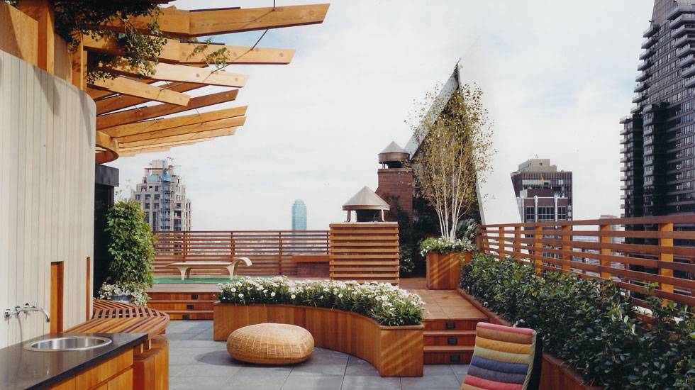 Contemporary Roof Gardens Decks Design Modern Apartment Outdoor Kitchen Viahouse Com
