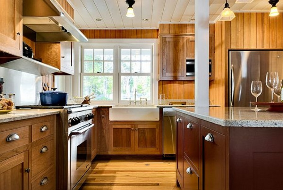 Astonishing Wooden Cabinets White Kitchen Backsplash Designs