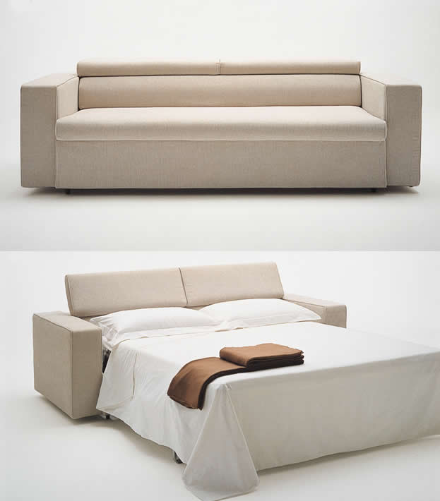 Awesome Modern Minimalist White Cream Cheap Sofa Beds